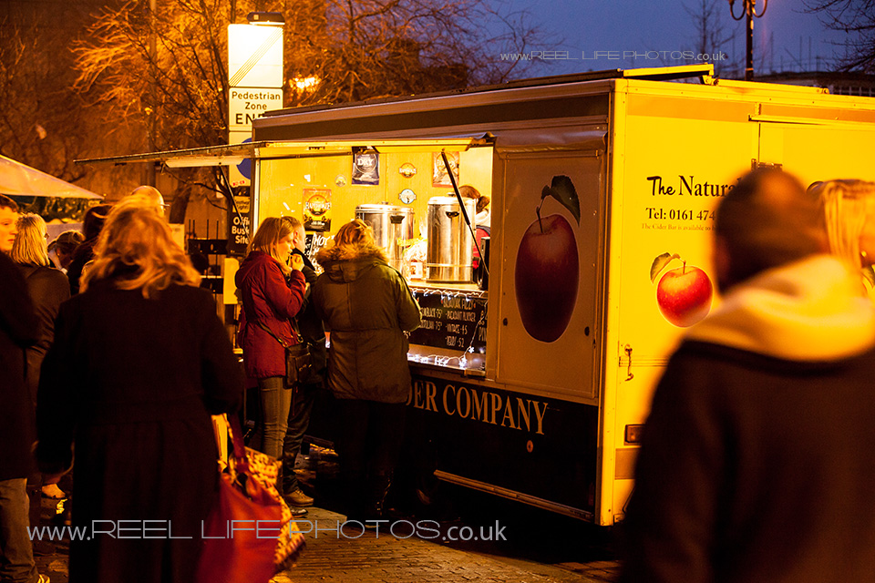 Food stall at Huddersfield Festival of Light 2013