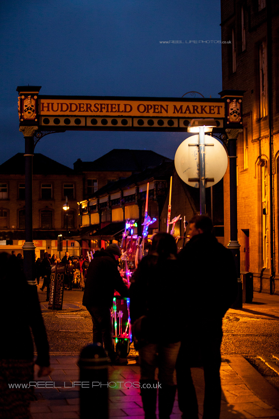 Huddersfield Market at night