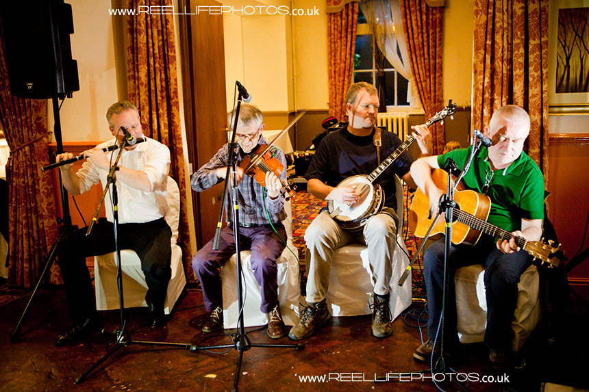 Ceilidh Irish Band at Healds Hall evening wedding reception