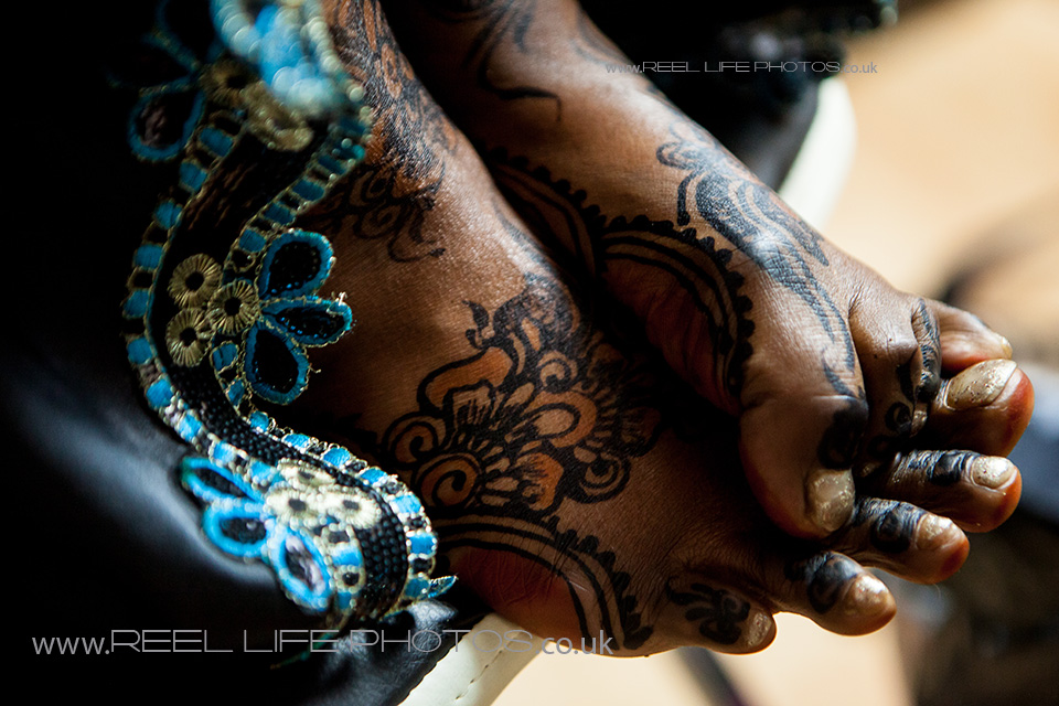 expressive feet before Somali wedding