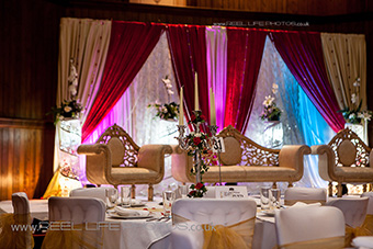Asian wedding stage Halifax, West Yorkshire