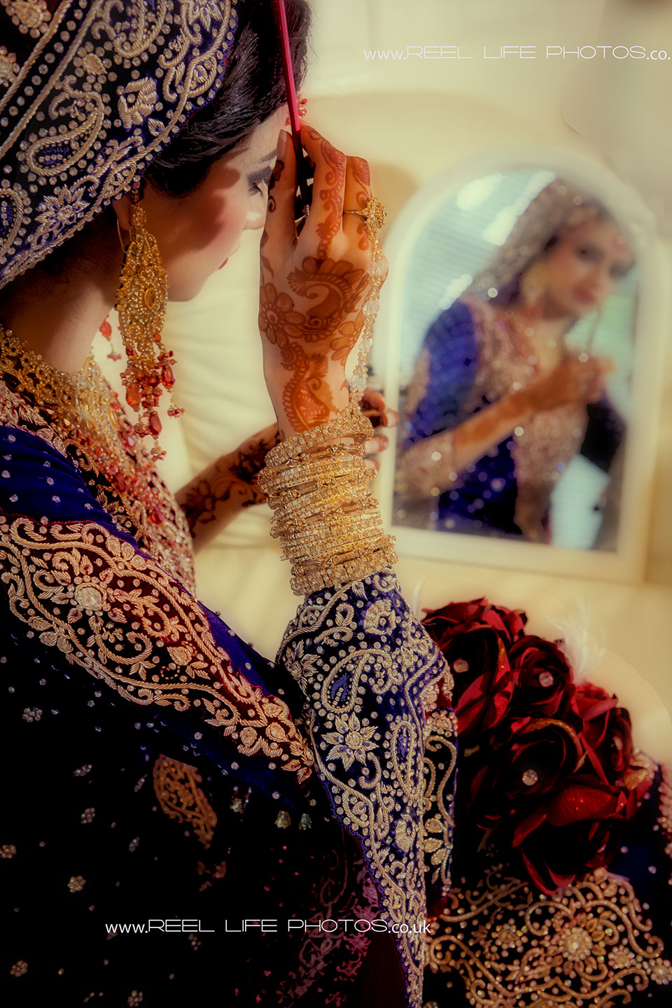Modern Asian bride on her wedding day
