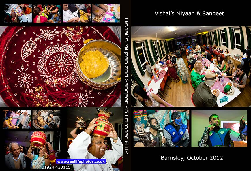 Hindu wedding ceremonyy Miyaan, Mayan and  Sangeet Hindu party