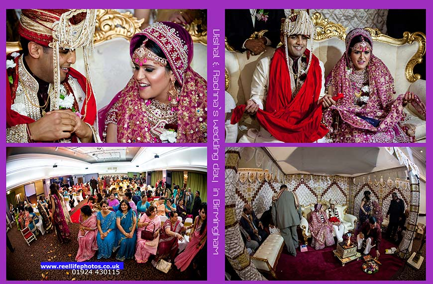 DVD-cover pictures of Hindu Baraat wedding ceremony in Birmingham