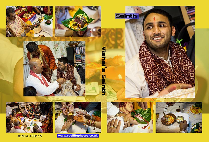 DVD- cover pictures for Hindu Sainth wedding ceremony