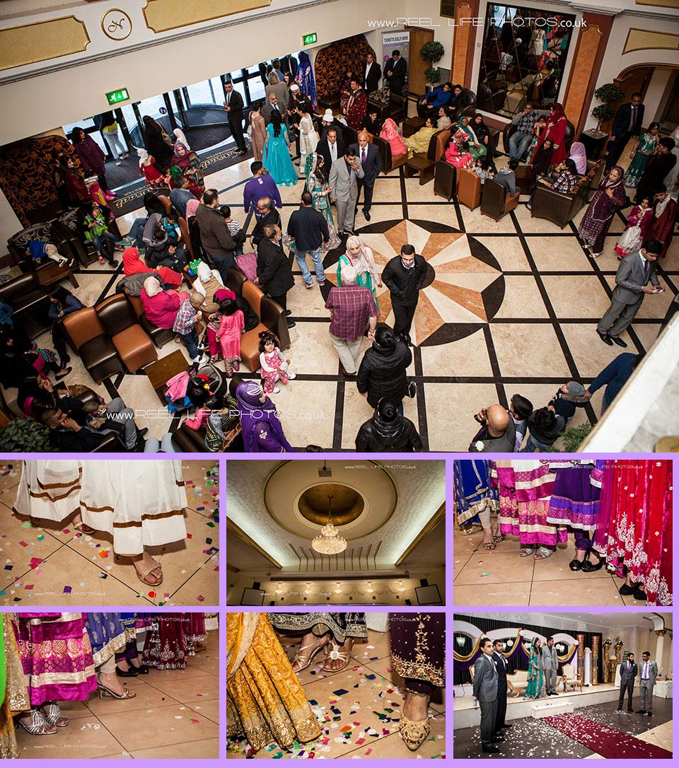 Asian wedding photography at Nawaab's in Manchester