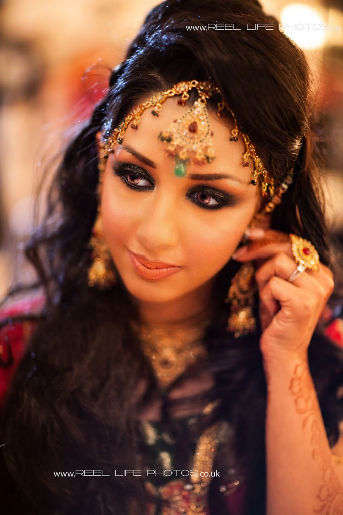 Asian bride's wedding portrait in Leeds