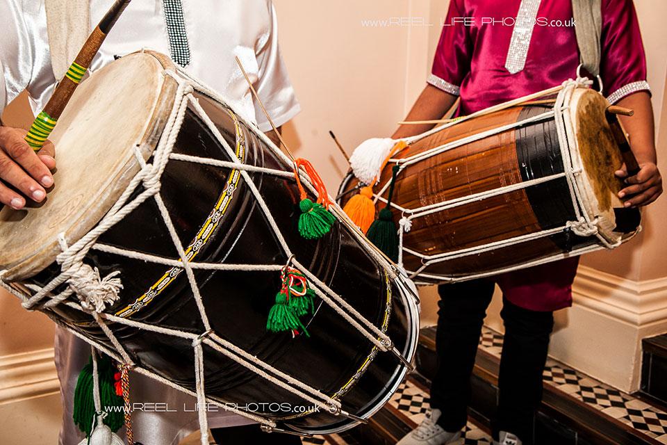 Hindu wedding Dhol drummers