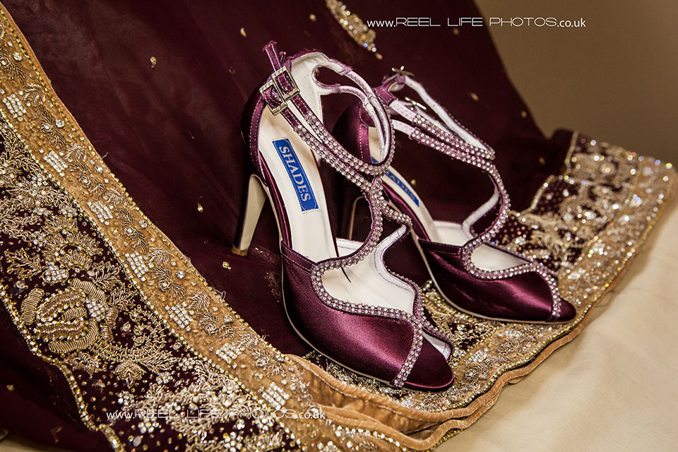 Asian wedding photography - bride's shoes