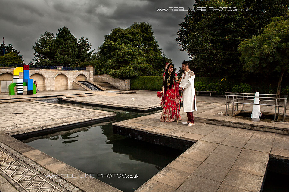 Cinematographic wedding pictures in Bradford