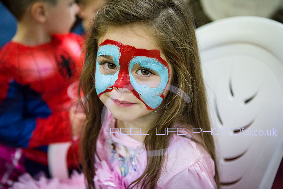 Face painting at The Cheeky Monkeys in Wakefield