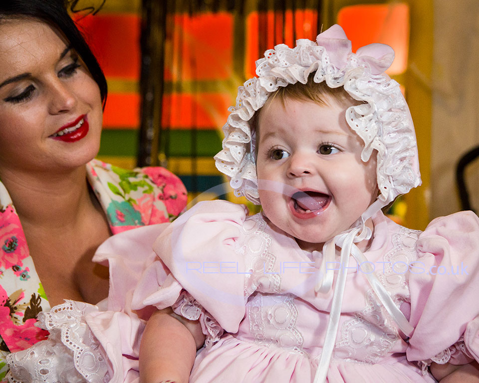 gipsy baby at her first birthday party in Wakefield
