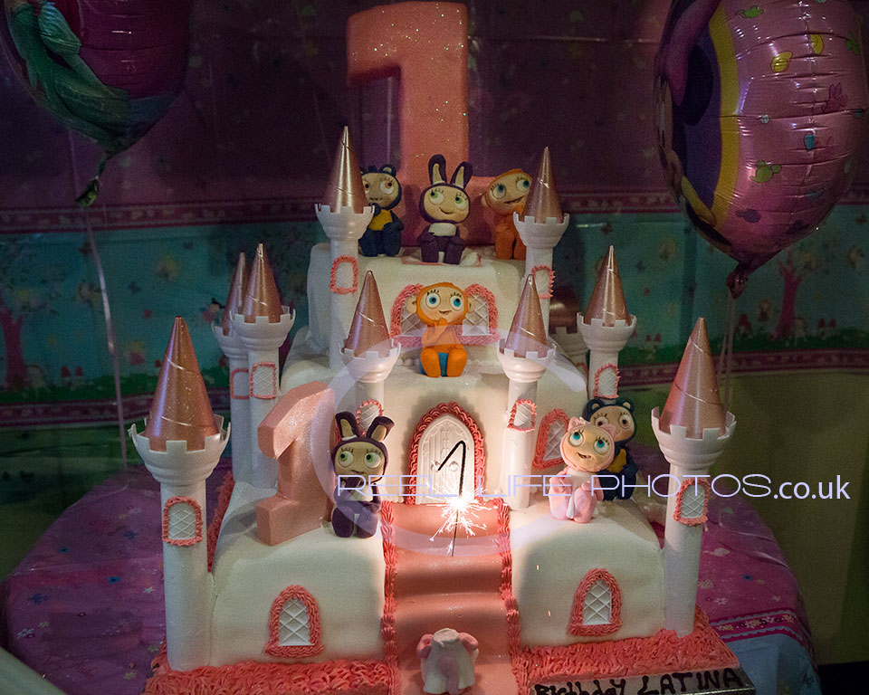 castle cake at gipsy birthday party in Wakefield