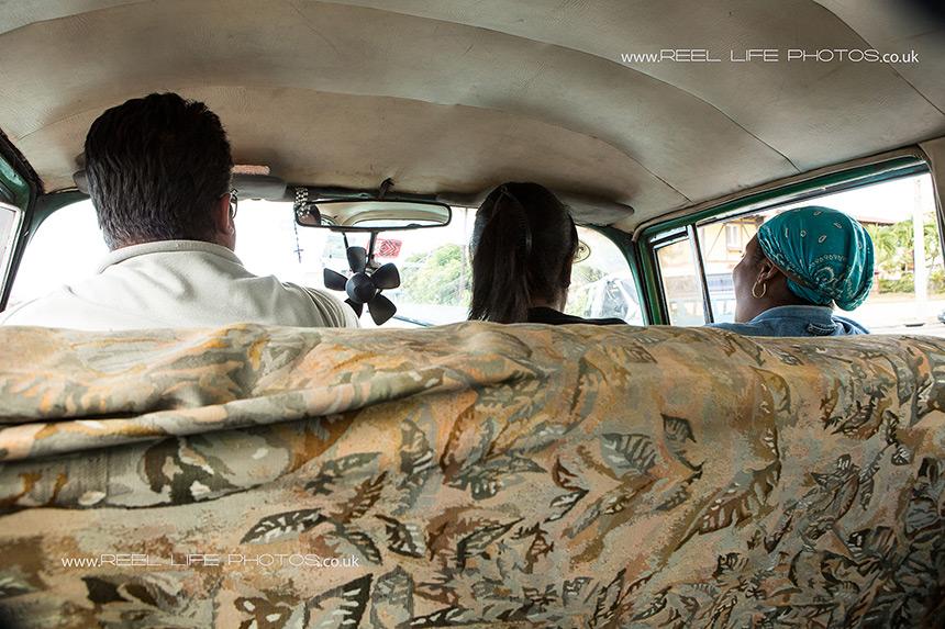 inside a Cuban car