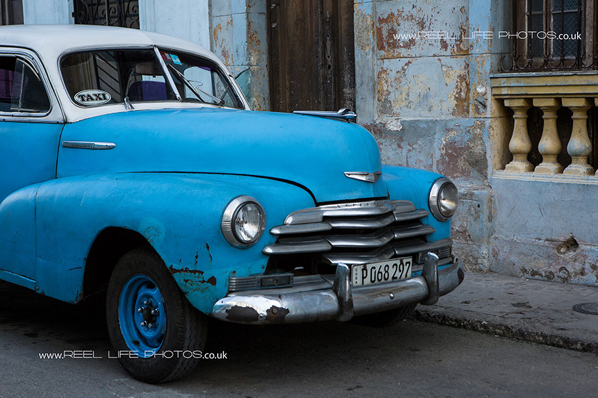 Real life in Cuba - Cuban taxi more than 50 years old and still on the road.