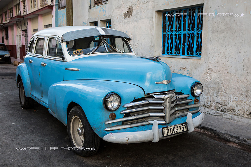 Cuban taxi - over 50 years old.