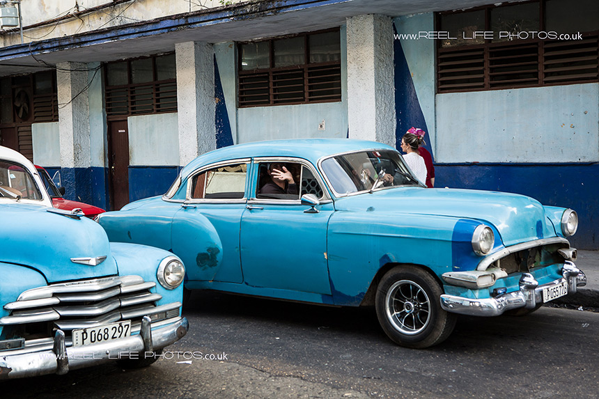 Cuban cars in Old Havana. Copyright Reel Life Photos.