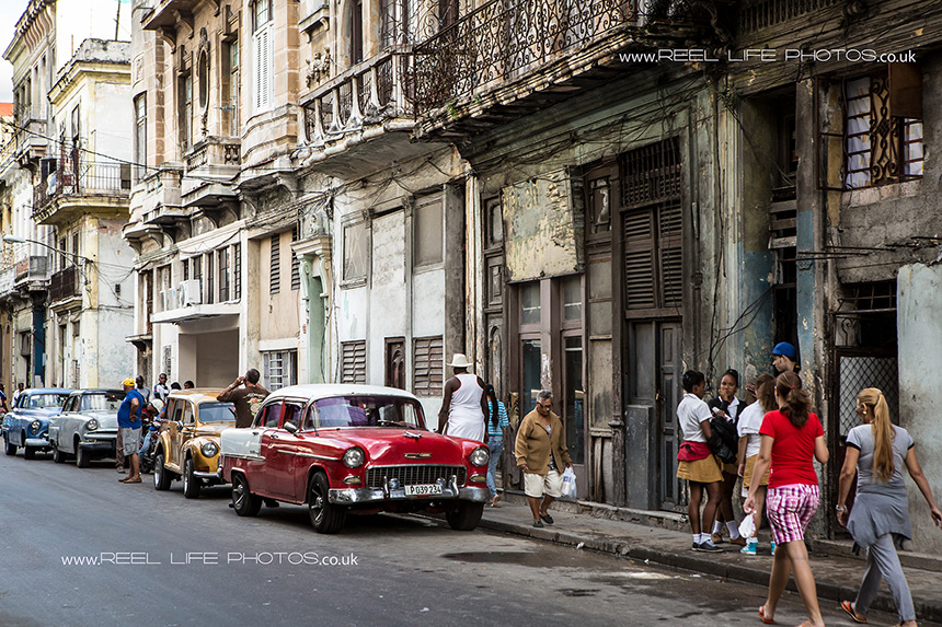 Real life in Cuba, Cubana and classic old cars in Havana.