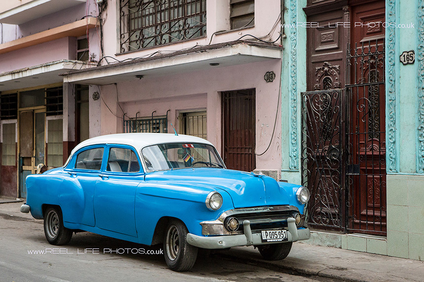 Old Cuban car in Havna