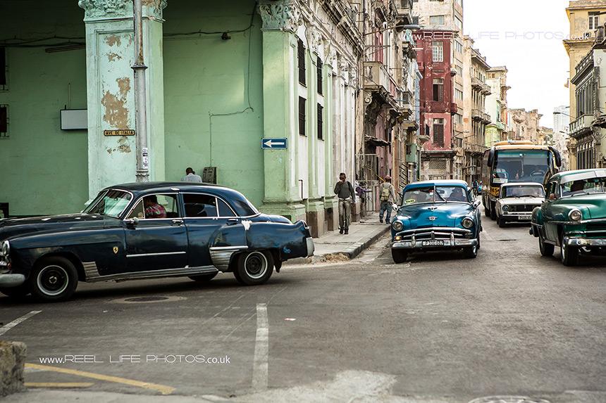 Old Cuban cars.