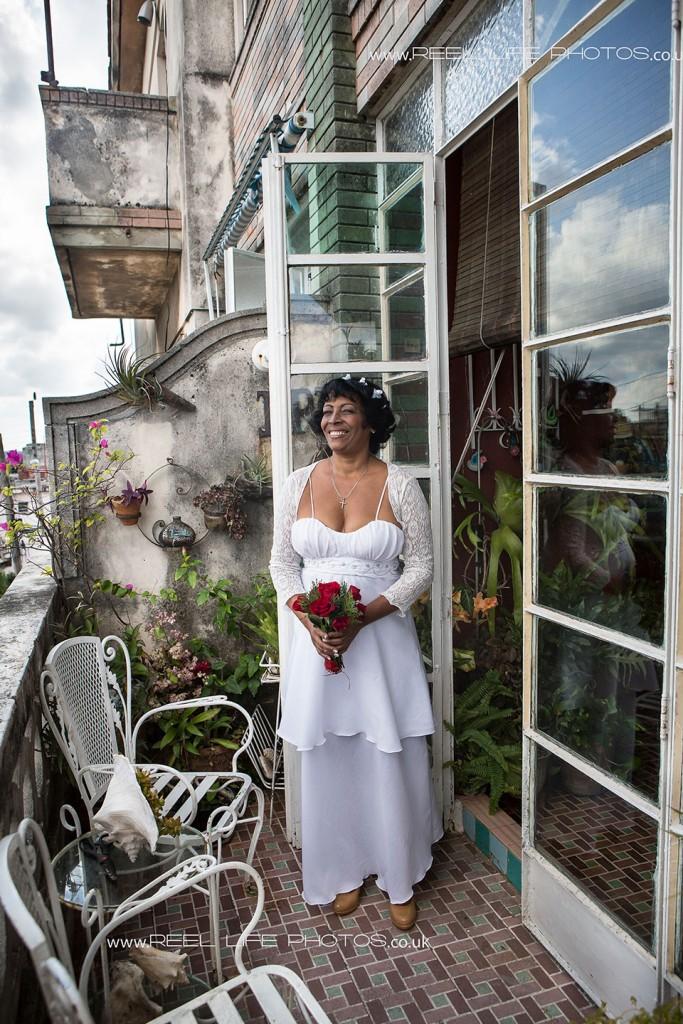 Real Cuban wedding in Havana , Cuba