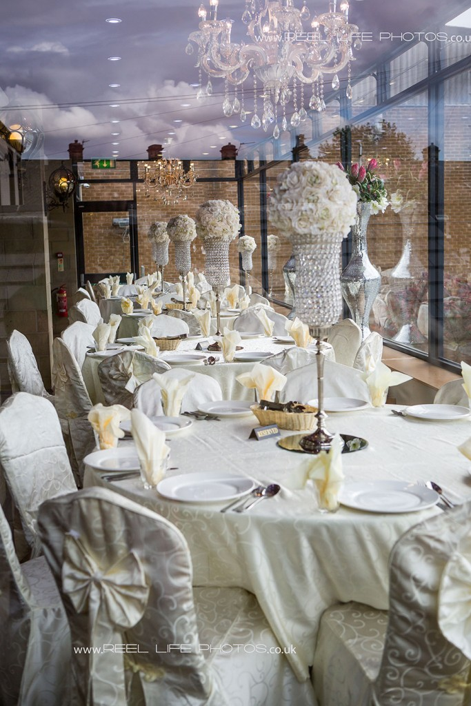 wedding venue details at the Grand Banqueting Suite in Dewsbury