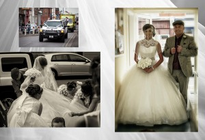 gipsy wedding at a church in Yorkshire