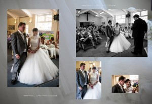 wedding inside Smawthorne Church in Castleford