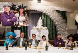 top table at gipsy weddimg
