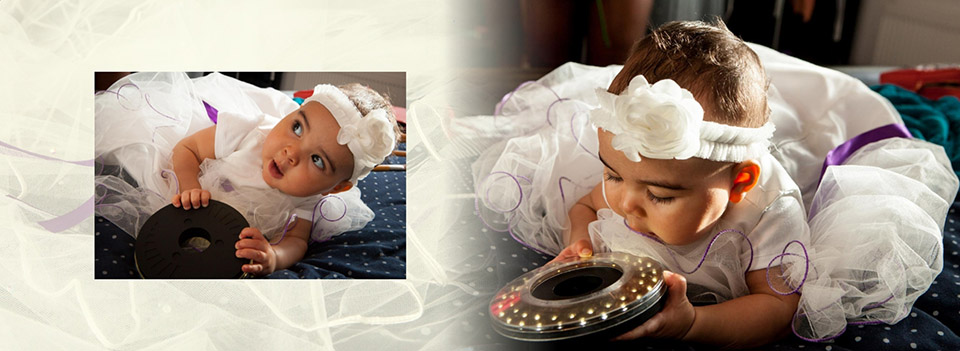 How the wedding photographer keeps the bride's baby happy before the wedding in Dewsbury