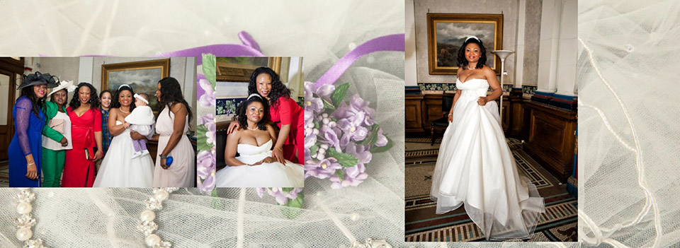 wedding photography in Dewsbury Town Hall after the wedding ceremony