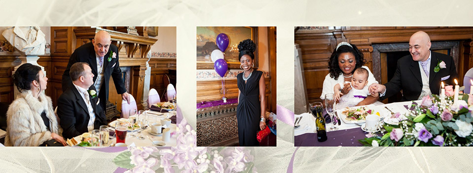 Beautiful wedding pohotography in Dewsbury, showing the table layout with wedding guests.