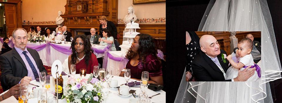 wedding cake and wedding reception wedding breakfast pictures at Dewsbury Town Hall