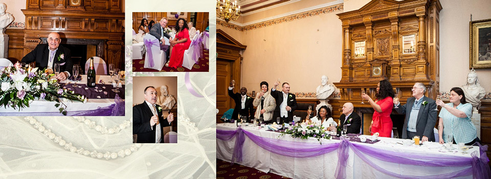 wedding toast captured in pictures by Reel Life Photos in Dewsbury