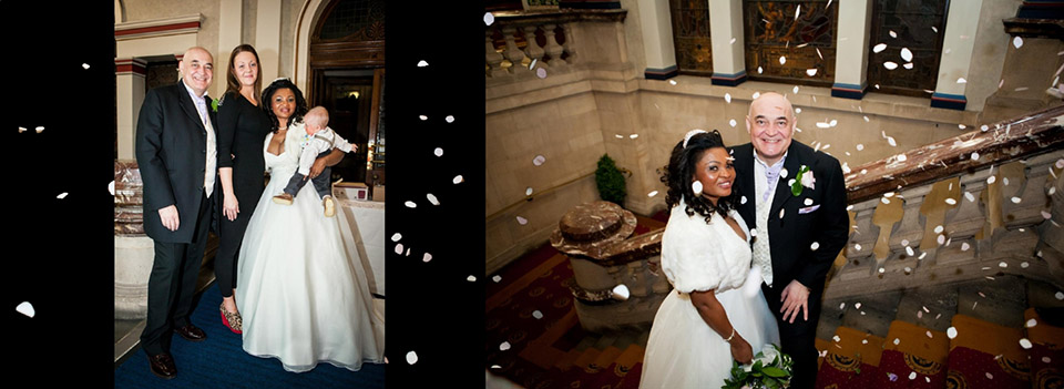 confetti pics in Dewsbury in wedding storybook
