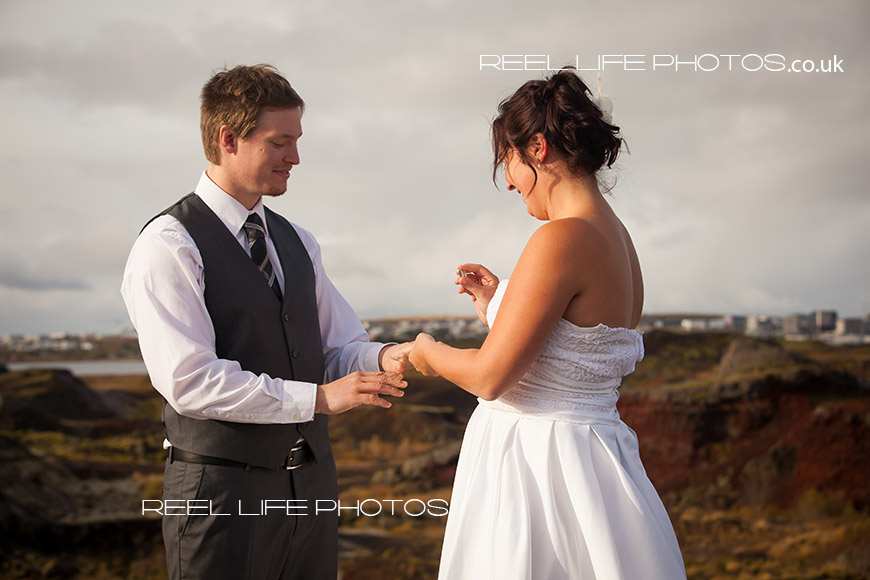 getting married in Iceland on a mountain