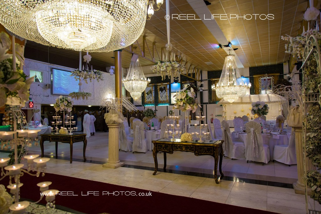 Bolton Excellency wedding pic with grand chandeliers