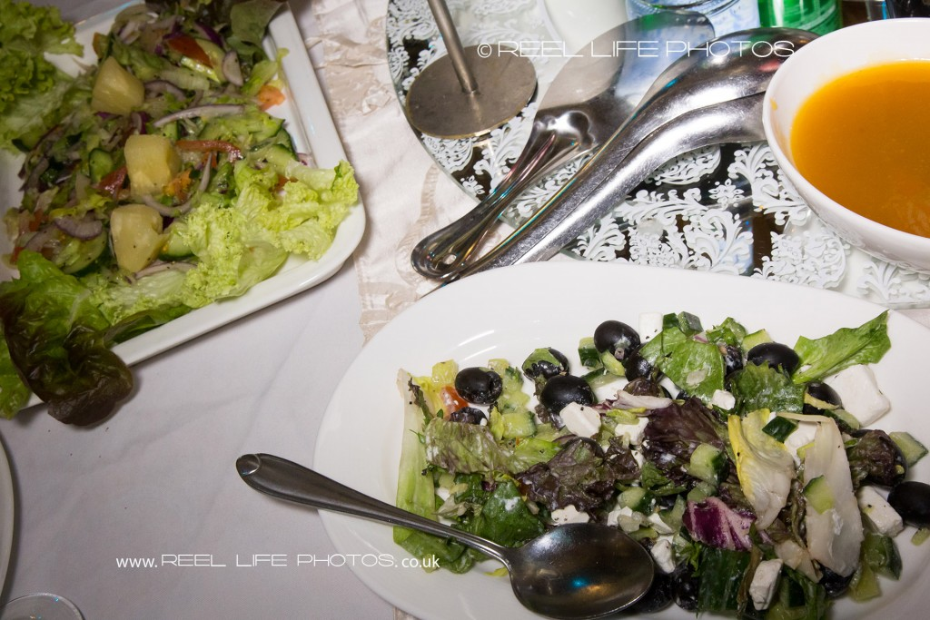 wedding reception food at Bolton Excellency