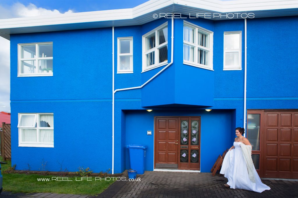 wedding in Iceland with bride by Blue House