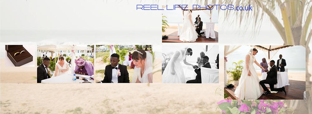 Romantic beach wedding pictures at Coco-Ocean-in The Gambia