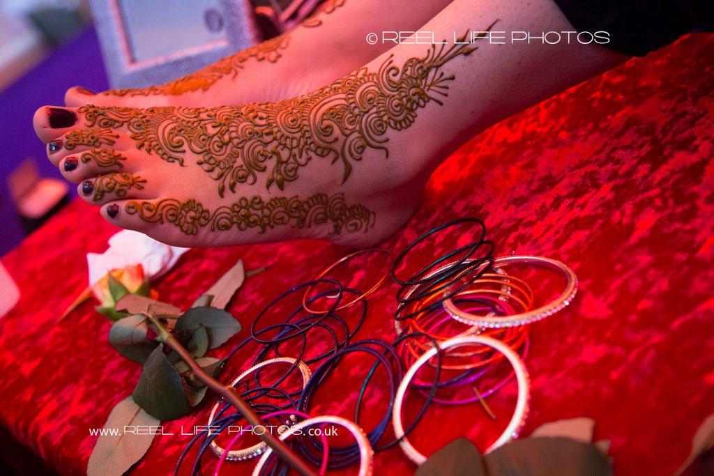 Asian wedding mehndi shot on the Mehndii by wedding photographer at then venue