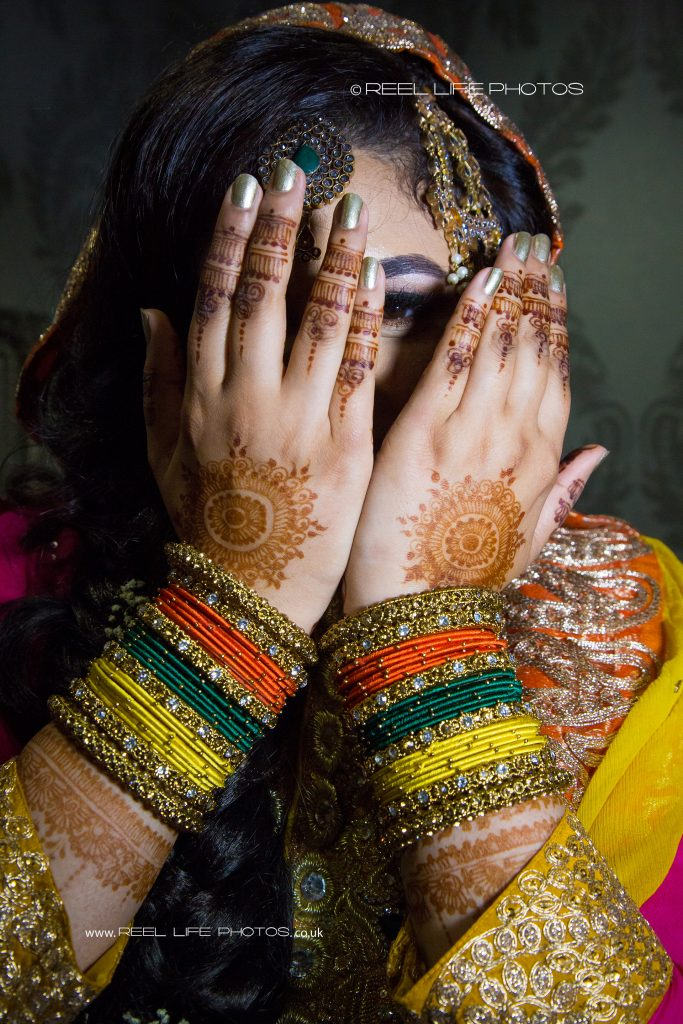 Pakistani bride by Asian wedding photographer Dewsbury