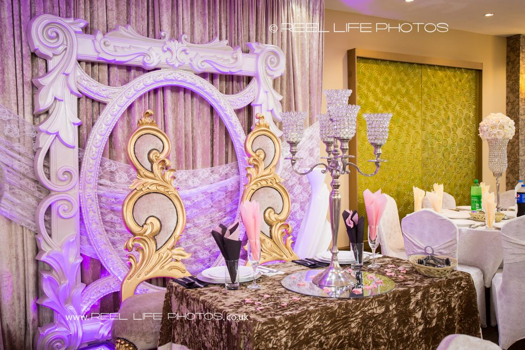 Pictures of Asian wedding venue banqueting hall in West Yorkshire - the stage