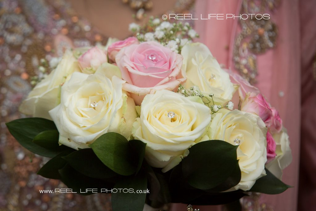 Pictures of Asian wedding bouquet at The Grand in West Yorkshire
