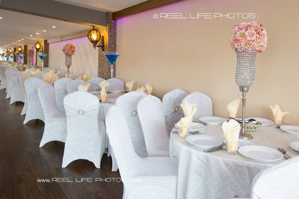 Pictures of Asian wedding venue banqueting hall in West Yorkshire