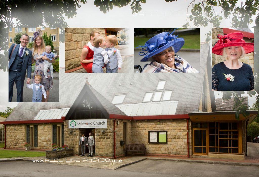 Storybook wedding album design - Leeds Oakwood Church