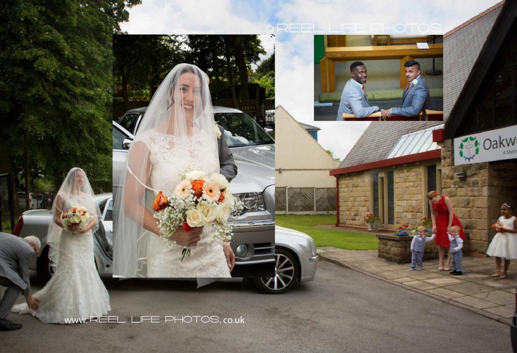 Church wedding - a page in the wedding album - Wedding-storybook design , West Yorkshire
