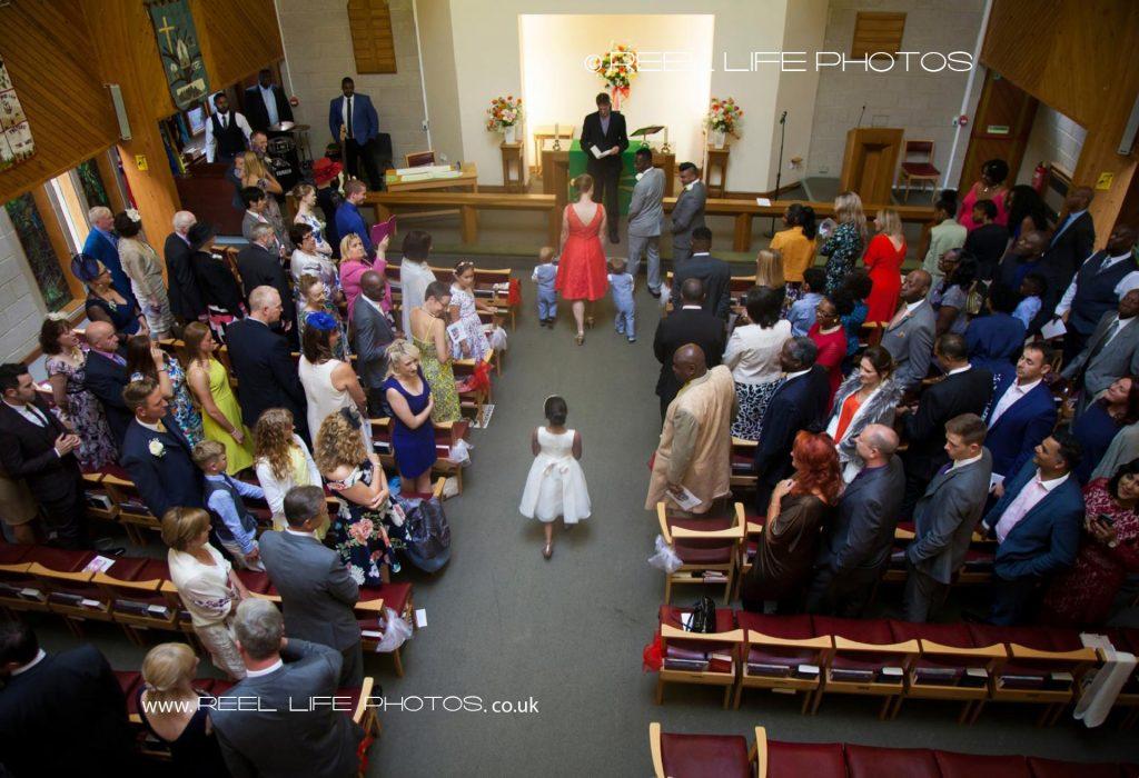 Church wedding in Leeds, West Yorkshire
