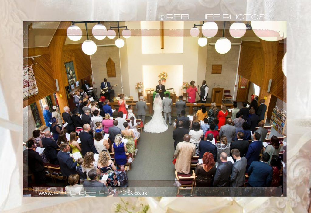 wedding at Oakwood church in Italian storybook