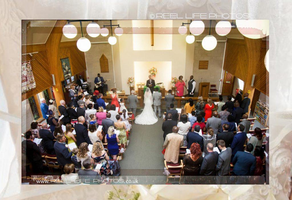 wedding at Oakwood church in Italian storybook